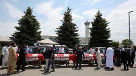 المئات يشاركون في جنازة أفراد أسرة كندية مسلمة دهسهم رجل بشاحنة
