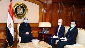 وزيرة التجارة تبحث مع سفير اليابان جذب استثمارات طوكيو لمصر