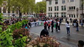 مسيرة دعم في لندن للقضية الفلسطينية.. ومصري: «مش هتكون الأخيرة»