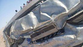 إصابة 6 أشخاص في تصادم سيارتين بطريق مصر أسوان الزراعي بقنا