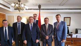 وزير قطاع الأعمال يستقبل نائب رئيس مكتب الرئاسة الأوكرانية وسفيرها بالقاهرة