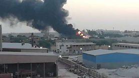 حريق هائل في مصنع بالسادات