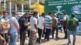 """""""سلمان للإغاثة"""" يوزع المواد الغذائية للعائلات المحتاجة في بيروت"""