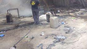 محافظ القاهرة: خسائر سوق توشكى من الحريق 60%