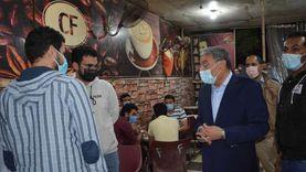 غلق مقهى يقدم الشيشة ومحل خالف الإجراءات الاحترازية بالمنيا