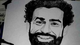 أحمد حسن يتغلب على إعاقته بـ«الملح والفحم»: رسم المشاهير وطبيب الغلابة