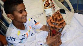 شباب يوزعون فوانيس على أطفال مستشفي شفاء الأورمان للسرطان