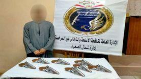 ضبط تاجر أسلحة وذخيرة بالمنيا وهارب من 10 أحكام في القاهرة