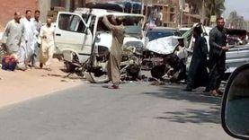 بسبب سرعة قبل الإفطار.. إصابة 6 أشخاص في حادث تصادم سيارتين بالبحيرة