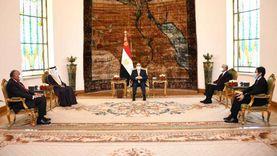 السيسي يستقبل رئيس البرلمان العربي بحضور حنفي جبالي