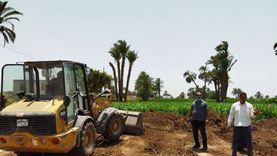 استمرار حملات إزالة التعديات على الأراضي الزراعية ومخالفات البناء بأسيوط