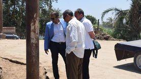 محافظ المنيا يوجه بإصلاح أعمدة الإنارة بطريق كوبري «أبو شناف»