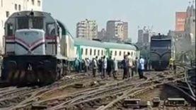 أول فيديو لحادث قطار النوم بمحطة مصر