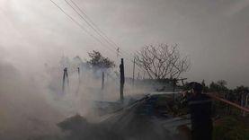 حريق هائل بحظيرة ماشية في الدقهلية
