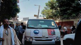 سيارات تنقل الناخبين مجانا إلى اللجان الانتخابية في أسيوط