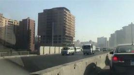 زحام مروري شديد على الطريق الدائري أمام عقار فيصل