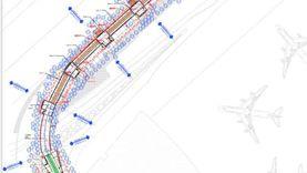 """""""الوطن"""" تنشر الرسومات الهندسية لـ""""المشاية الكهربائية"""" بمطار القاهرة"""