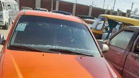 محافظ الإسماعيلية يضبط سائق تاكسي يسير عكس الاتجاه