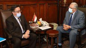 وزير الزراعة يبحث مع سفير كازاخستان زيادة التعاون الزراعي بين البلدين
