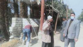 حملات نظافة وإزالة إشغالات بمركزي أبوتيج والغنايم في أسيوط