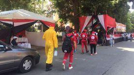 فرق الهلال الأحمر تتواجد بمحيط اللجان الانتخابية بالزمالك