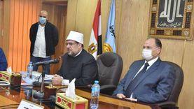 وزير الأوقاف يلتقي ممثلي كنائس أسيوط: نسعى لجعل المواطنة ثقافة وطنية