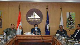 رئيس جامعة دمياط يستقبل نواب المحافظة بمجلس الشيوخ