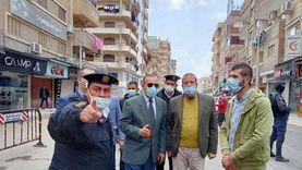 جمال نور الدين يتفقد أعمال الرصف بعدد من شوارع كفر الشيخ