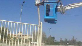 عودة التيار الكهربائي للشيخ زويد بعد إصلاح أعطال بسبب الأسلاك القديمة