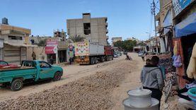 رفع تراكمات القمامة بالعريش ورصف الطرق الداخلية بالشيخ زويد