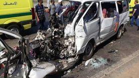 إصابة 6 أشخاص في انقلاب سيارة على الطريق الحر بالقليوبية