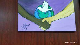في اليوم العالمي للسلام.. معرض فن تشكيلي في مكتبة مصر الجديدة