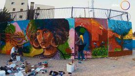 """""""أتوبيس السعادة"""" يشارك فريق """"إيتنينا"""" في تجميل شوارع القاهرة"""