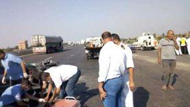 مصرع 5 وإصابة آخر في حادث تصادم دراجتين بخاريتين بقنا