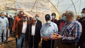 وزير الزراعة ومحافظ جنوب سيناء يتفقدان الصوب الزراعية بنويبع