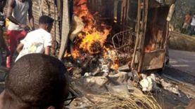 عاجل.. احتراق 40 شخصا أحياء داخل أتوبيس في الكونغو