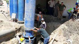 مياه الدقهلية: ربط خط الصرف الممول من البنك الدولي بمحطة السنبلاوين
