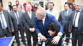 رئيس الجامعة في اليوم العالمي لذوي الإعاقة: أنشأنا وحدة متميزة لهم