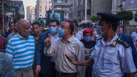 محافظ الإسكندرية ينذر أصحاب المحال: الالتزام بالقانون أو التشميع