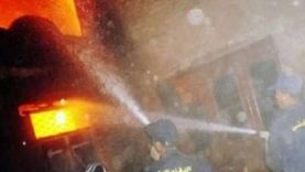 إصابة ربة منزل في حريق منزل بسوهاج