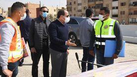 الرئيس خلال تفقده مشروعات شرق القاهرة: كابلات الكهرباء تتشال من مكانها