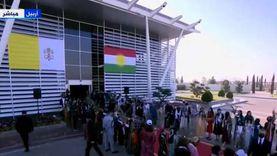 بث مباشر.. استقبال رسمي وشعبي للبابا فرنسيس في مطار أربيل