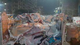أحياء الإسكندرية تزيل لافتات مرشحي مجلس الشيوخ من الشوارع