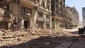 """محافظة القاهرة: العقار المنهار """"طراز معماري"""" وصدر له قراري تنكيس"""