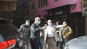 مصادرة 25 شيشة في جولة مفاجئة لمحافظ القليوبية بشبرا الخيمة