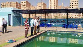 إيقاف تشغيل حمام سباحة بمركز شباب قليوب للتأكد من صلاحية المياه