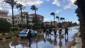 استمرار سقوط الأمطار بشكل متوسط على قرى ومدن شمال سيناء