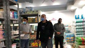 غلق وإنذار 12 صيدلية وكافتيريا مخالفة في حملات بالجيزة