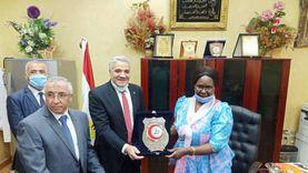تكريم وزيرة زراعة جنوب السودان في مركز البحوث الزراعية
