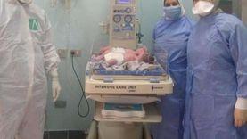 """مصابة بكورونا تضع """"توأم"""" في مستشفى الجمهورية بالإسكندرية"""